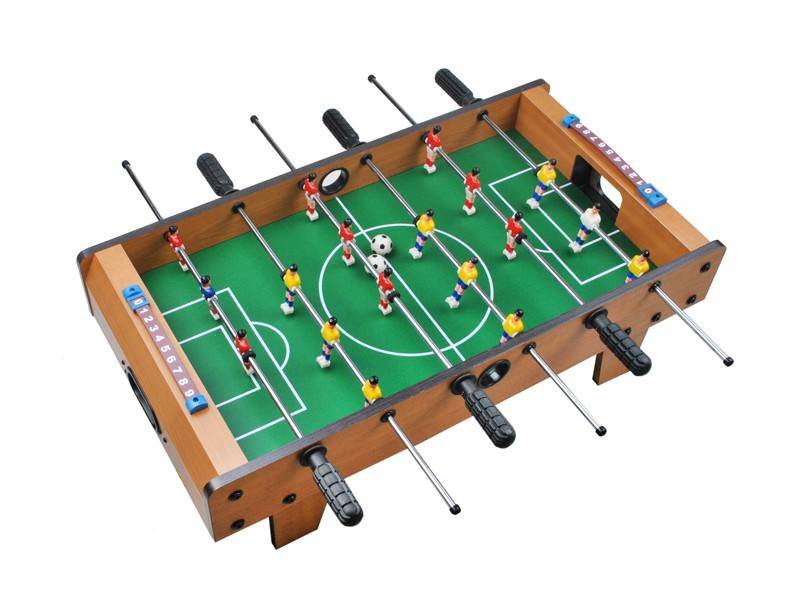 MAX Mini stolný futbal futbalček s nožičkami 70 x 37 x 25 cm svetlý