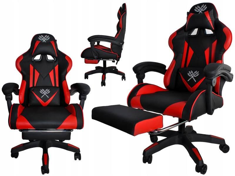 Malatec 8979 Herná stolička čierno červená
