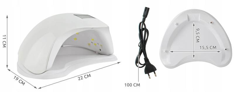 Beautylushh 6462 UV Lampa DUAL LED 48W bílá8