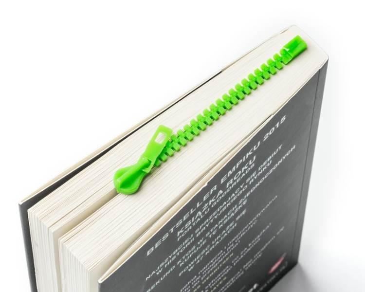 Master Záložka do knihy ZIP zelená