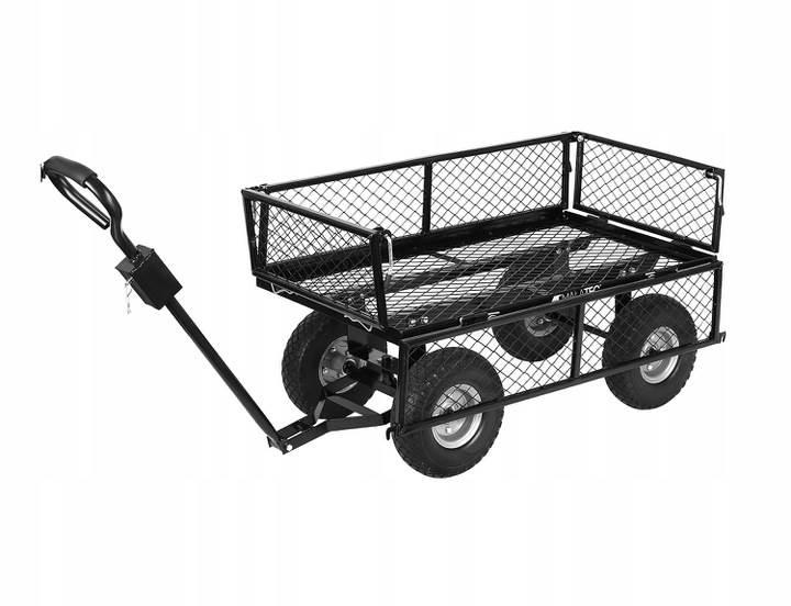Malatec 9038 Záhradný vozík s výklopnými bokmi nosnosť 600 Kg6