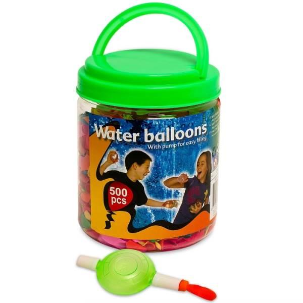 Gacek Balónky na vodu + pumpa - 500 kusů