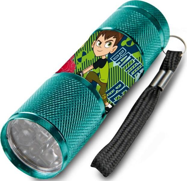 Javoli Detská hliníková LED svietidlo Ben 10 tyrkysová