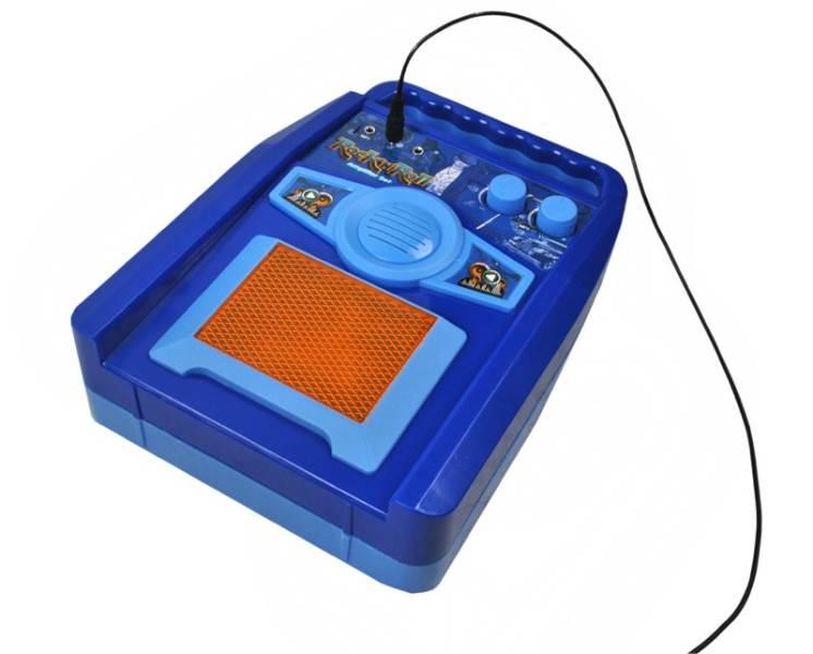Detská rocková elektrická gitara na batérie + zosilňovač a mikrofón Blue5