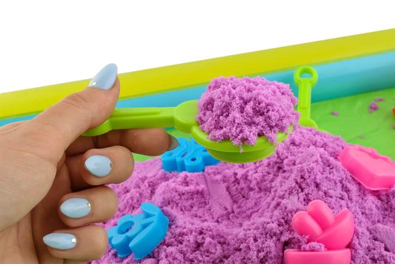 PlaySand Magický tekutý piesok 2000g + formičky + pieskovisko3