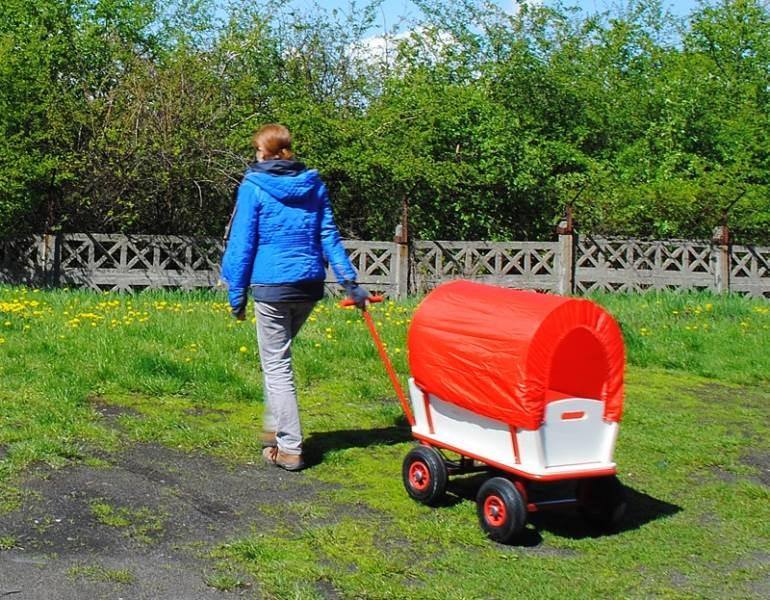 Záhradný vozík s plachtou 150 Kg - WO-8606