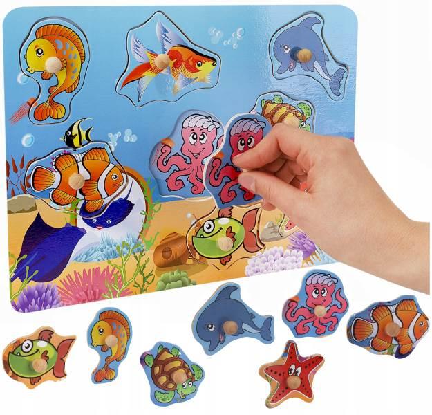 Kruzzel 9376 Drevená vkladačka morský svet