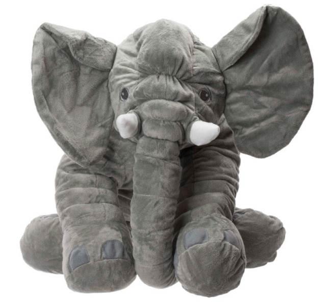 KIK Obrie plyšový slon - ŠEDÝ