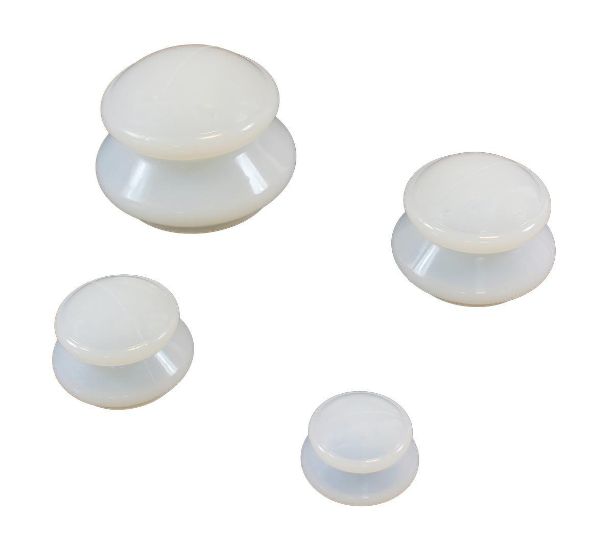 APT Terapeutické silikónové banky 4 ks biele