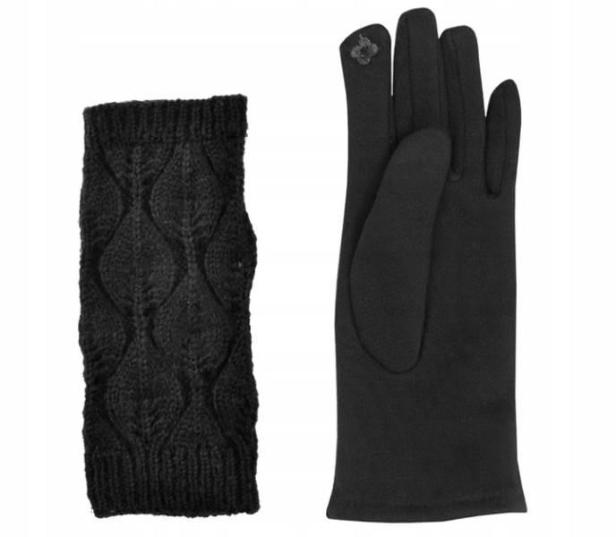 ISO 6413 Zimní rukavice na dotykové displeje 2v1 černé12