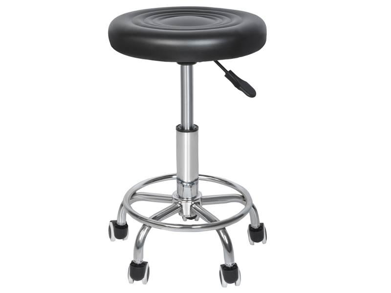 Malatec 5178 Kadernícky taburet - koliesková stolička - čierna