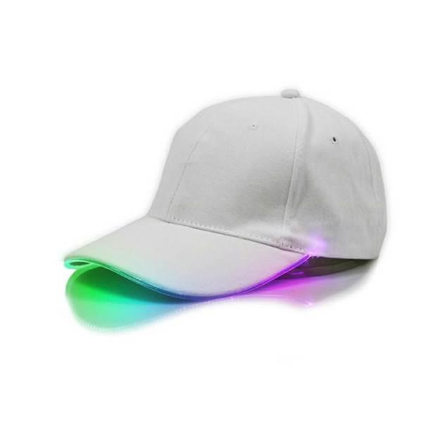 APT Svítící LED kšiltovka bílá RGB