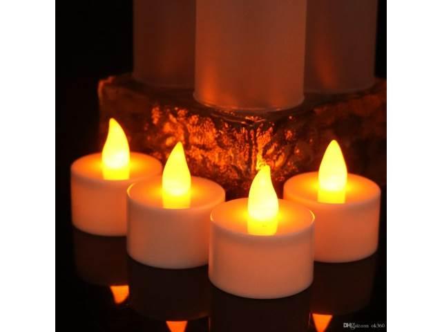 ART LED čajová svíčka bílá