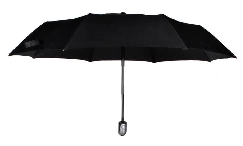 ISO 3406 Skladací dáždnik čierny