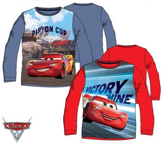 Javoli Detské tričko dlhý rukáv Disney Cars veľ. 104 červené