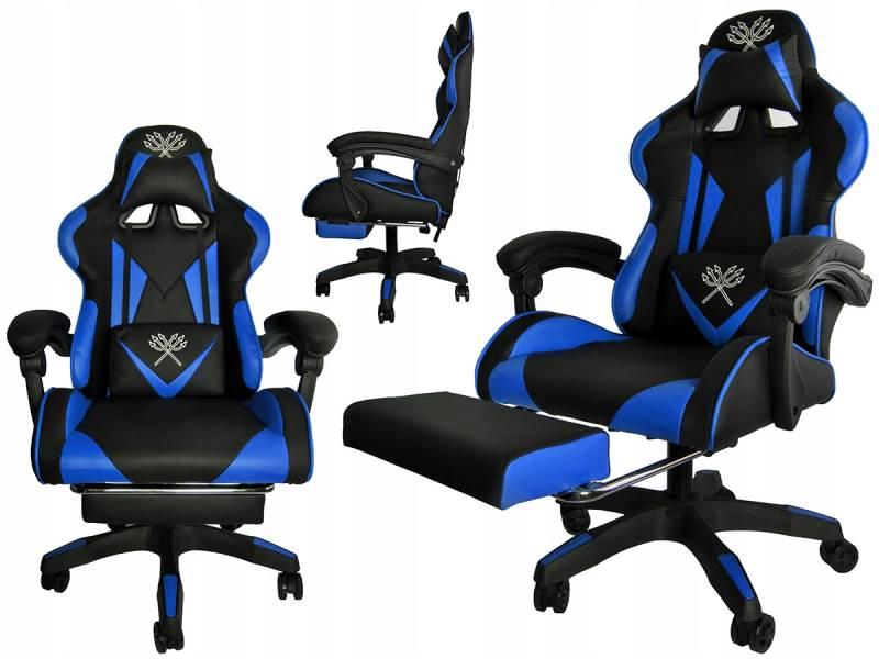 Malatec 8978 Herná stolička čierno modrá