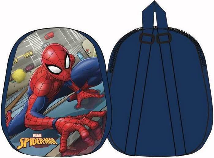 Javoli Detský batoh Spiderman 31 x 25 x 4 cm tmavomodrý