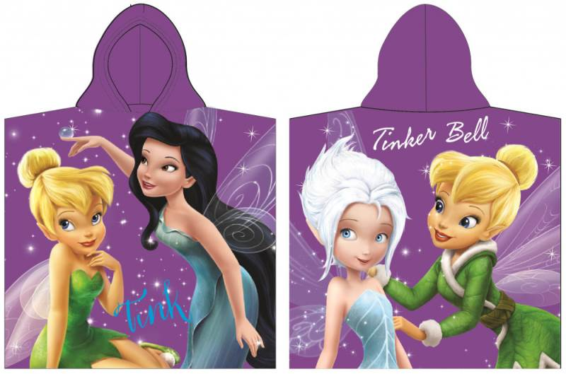 Javoli Disney Fairies Pončo 60 x 120 cm fialovej