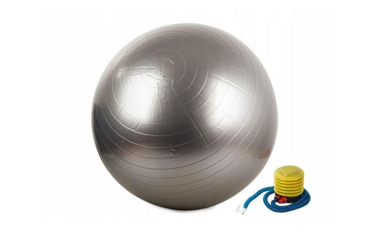 Verk Gymnastická lopta s pumpičkou 75 cm strieborná