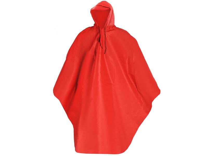 ISO Pončo - pláštěnka s kšiltem červená