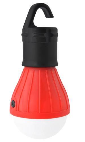 ISO 4072 Outdoorová LED žiarovka na kempovanie červená
