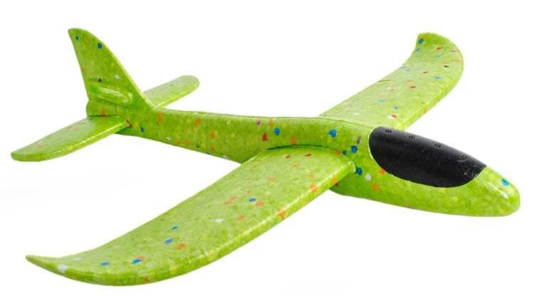ISO 9139 Penové Hádzacie Lietadlo 37cm zelená