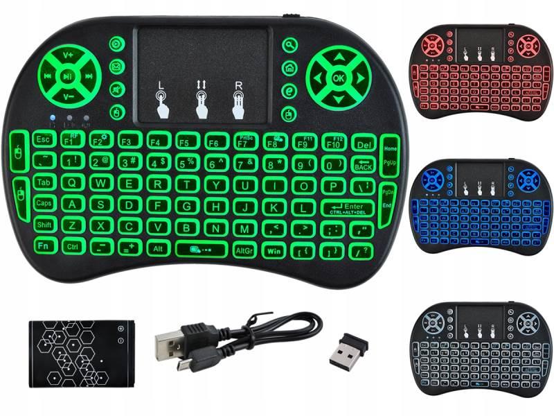 ISO 5605 Mini Wireless klávesnica podsvietená