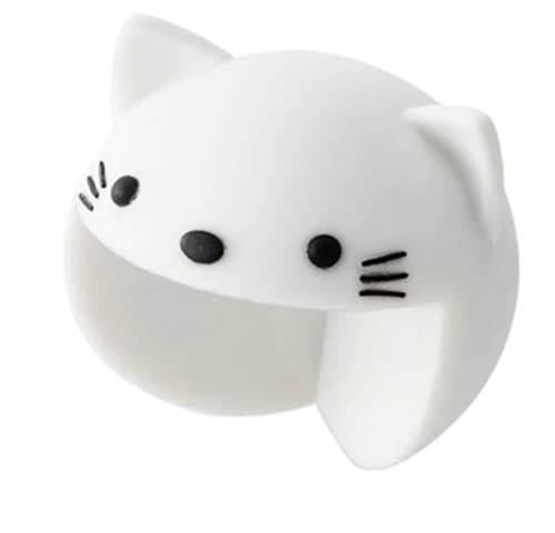 KIK Silikonová ochrana rohů kočka bílá