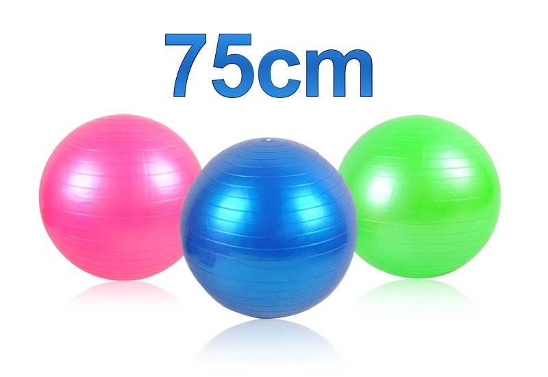 ISO Gymnastická lopta 75 cm + hustilka