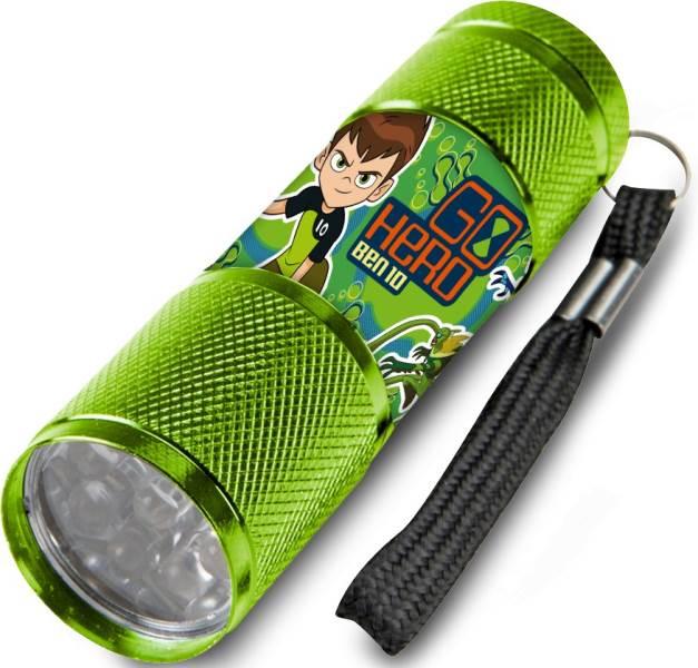 Javoli Detská hliníková LED svietidlo Ben 10 zelená
