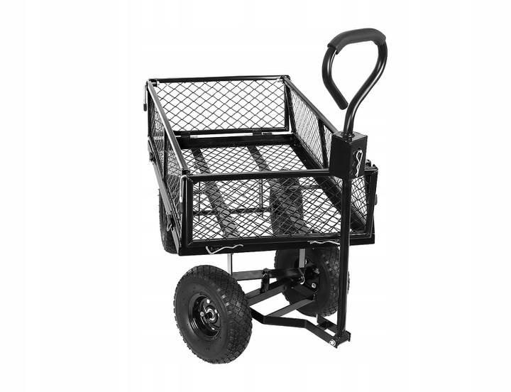 Malatec 9032 Zahradní vozík s výklopnými boky nosnost 350 Kg 5