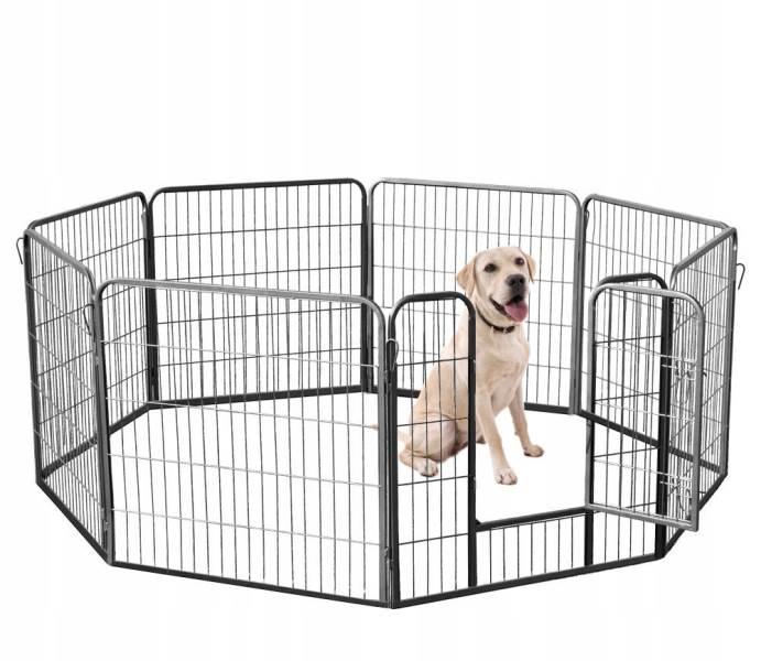 Malatec 9041 Kovová ohrádka pre psíkov a šteniatka 8-dielna 80 x 80 cm2