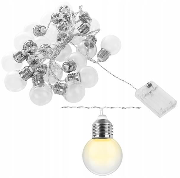 ISO 8623 LED svetelná reťaz žiarovky teplá biela 20ks