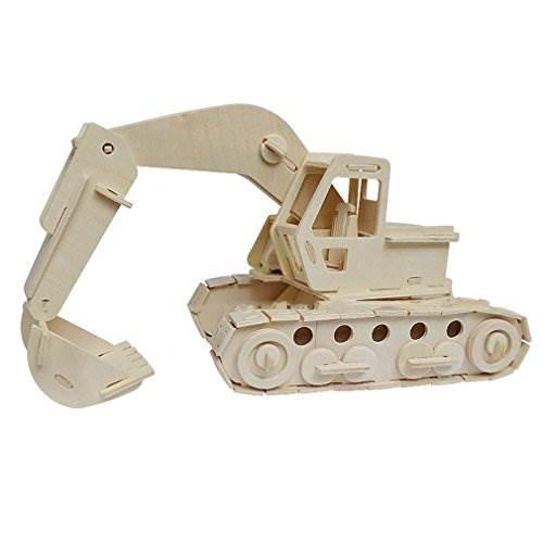 Woodcraft 3D puzzle dřevěná skládačka buldozer CX545