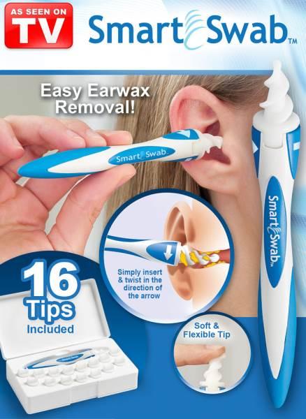 Verk 15630 Špirálový čistič uší s nadstavcami Smart Swabi