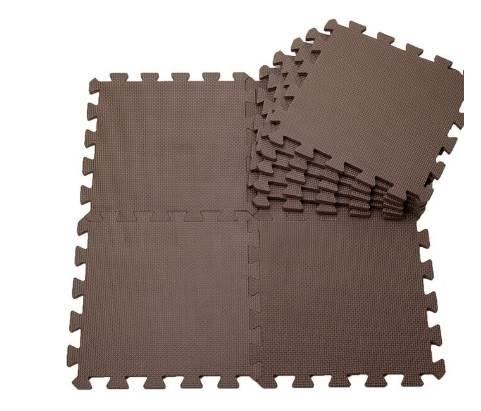EVA Penový koberec 60 x 60 cm 1 ks hnedá