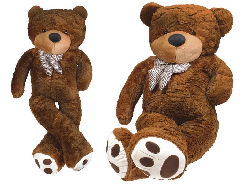 Velký plyšový medvěd tmavě hnědý 190 cm
