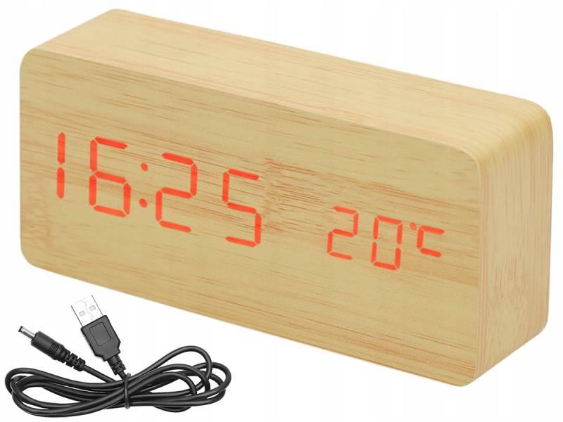 ISO 7037 Dřevěný digitální LED budík