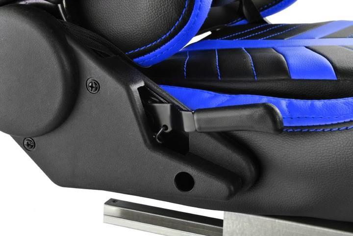 Malatec 6426 Herní židle černo modrá9