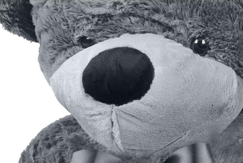 Veľký plyšový medveď sivý 190 cm3