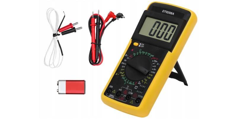 ISO Digitálny multimeter DT9208A, 1000V, 10A