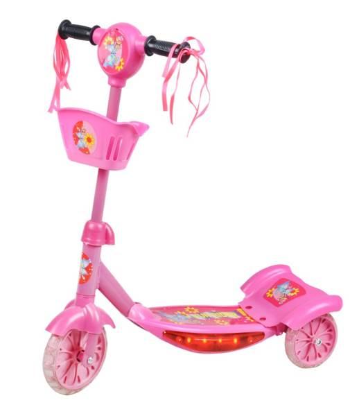 Hulajnoga Trojkolka svietiace Pink