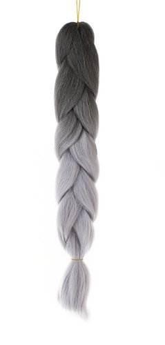 ISO Vlasy Kanelové syntetické vlasy ombre šedošedé