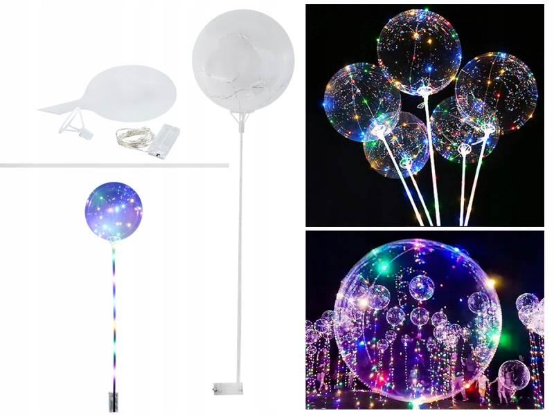 ISO LED svítící balónek 40 cm čirý