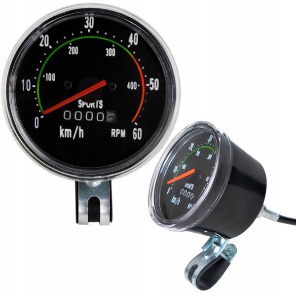 ISO 5679 Mechanický Retro tachometer pre bicykle