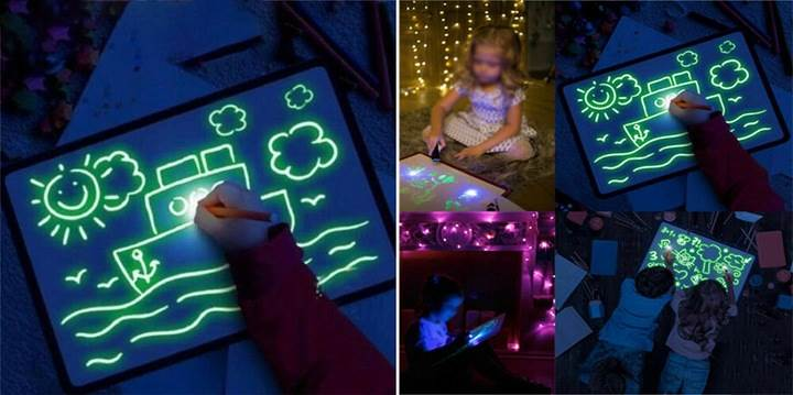 ISO 9179 Svietiace tabuľa na kreslenie GlowTab A42