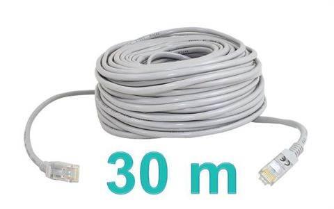 ISO Sieťový kábel RJ45-RJ45, 30m šedá