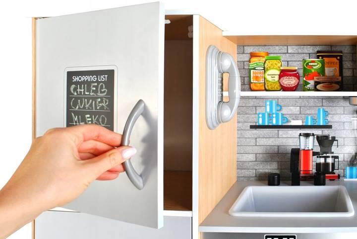 Kruzzel 9151 Dětská dřevěná kuchyňka s příslušenstvím XXL světle hnědá5