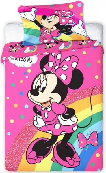 Javoli Detské bavlnené obliečky Disney Minnie 100 × 135cm, 40 × 60 cm