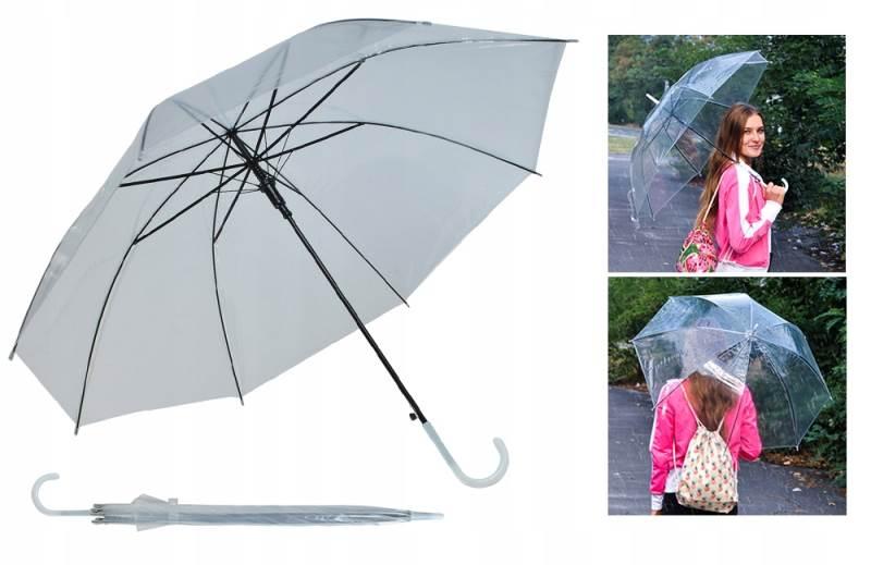ISO 6600 Dámsky priehľadný dáždnik číry